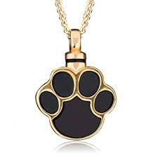 amazon ymandala puppy dog cat paw urn necklace for ashes pet print heart urn pendant necklace memorial ash keepsake jewelry