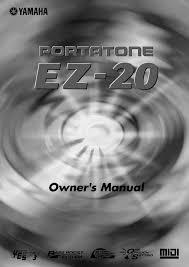 Yamaha Ez 20 Owners Manual Manualzz Com