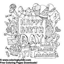 Happy Birthday Party Fun Coloring Page 740 Coloring By Miki