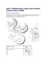 Dell Multifunction Color Laser Printer 3115cn User S Guide Manual