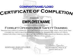 templates for certificates of completion certificates of completion for safety training