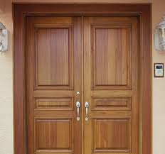 wooden panelled simple main door designs for home