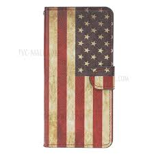 pattern printing leather wallet case for xiaomi mi 9 retro american flag 1