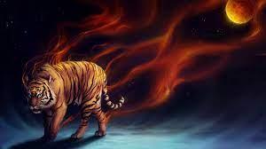 1920x1080 Wallpaper tiger, abstract ...