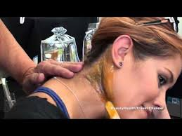 waxing the back of the neck face