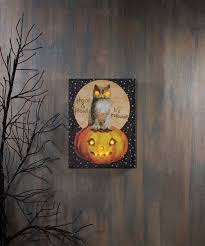 Fall Lighted Canvas Hoot Owl Lighted Canvas Halloween Fall Lighted