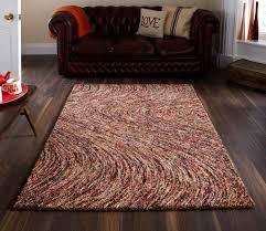 inca swirl pattern hand tufted 100 wool rug