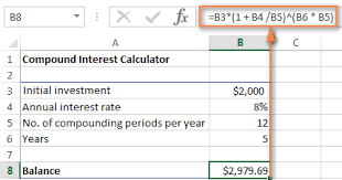 daily interest calculator excel how to do interest on excel