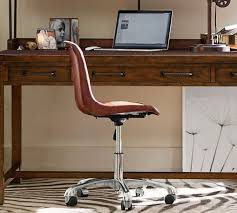 mitchell swivel desk chair pottery barn with regard to awesome household leather swivel desk chair designs