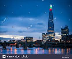 The Shard London Christmas Lights The Shard Building Lights Up For The Christmas Season With