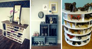 5 stylish diy shoe racks