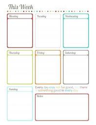 Blank Weekly Calendar Blank Weekly Activity Schedule Download Them Or Print