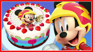 Mickey Mouse Birthday Cake Toddler Learn Cooking Food Real Cake