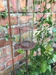 1 garden tea light holder brown 1m rust