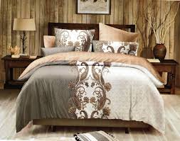 multi colored paisley print king size duvet cover set