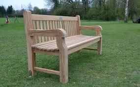 chunky teak garden bench for at