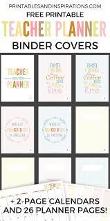 Free Teacher Planner Printable 2019 2020 Printables And