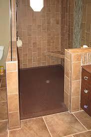 Custom low profile tile walk in shower