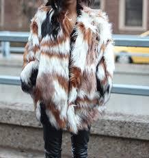 mulit color faux fur coat 2