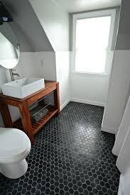 small inexpensive bath reveal beadboard farmhouseblack hex tile floor sherwin bathroom remodel floor s81 remodel
