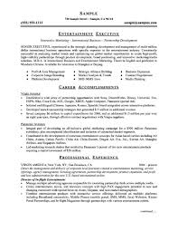 Executive Style Resume Template Alieninsidernet