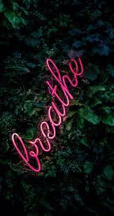 Breath neon light iPhone wallpaper ...