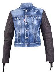 dsquared2 blue denim jacket blue