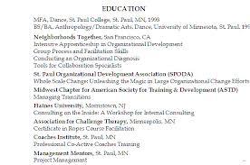 how list education resume section mfa dance simple screnshoots