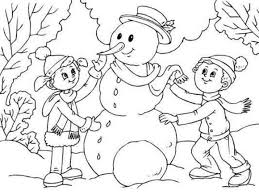 Small Picture Making Snowman Coloring Pages To Print Winter Coloring pages of