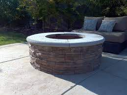 Stacked Stone Fire Pit how to build a fire pit with stone veneer facing diy add a bbq 2314 by uwakikaiketsu.us