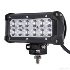 Spot Or Flood Led Light Bar Ultra Bright 7 36w Spot Flood Combo Led Light Bar Offroad Driving Light With Mounting Bracket Waterproof For Suv Motorcycle Tractor Boat Led Flood