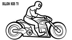 COLORS TRON MOTORCYCLES w/ Superheroes Spiderman Coloring Pages ...