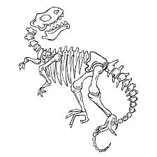 Bekijk Fossielen En Dino Skeletten 0004 Kleurplaat Dinossauros