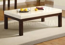 terrific modern marble white coffee table with black wooden legs also white rug on brown laminate wooden floor