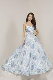 Tiffany Designs Size Chart Tiffany Designs 16340 Metallic Print Formal Gown