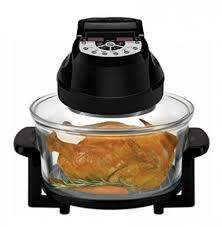 big boss rapid wave halogen infrared convection countertop oven 16 quart with extender ring glass bowl digital presets air fryer large