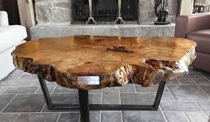 wood slice coffee table