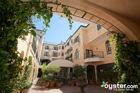 this charming boutique property exudes an upscale feel throughout common spaces including the interior courtyard the garden court