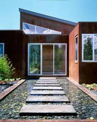 Modern Water Features Water Feature Steps Entrance Imposing Contemporary Home In
