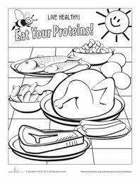 Small Picture Free Discover MyPlate worksheets for kindergarten on nutrition