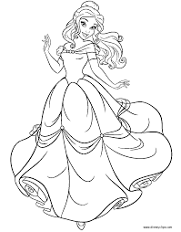 Beauty And The Beast Coloring Pages Disneyclipscom