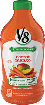 v8 juice blend lower sugar carrot mango 46 fl oz