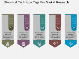 Statistical Technique Tags For Market Research Powerpoint Template
