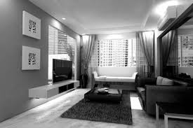 black furniture decor. Livingroom:Black And White Gloss Living Room Furniture Decorating Ideas With Functional Tv Stand Modern Black Decor L