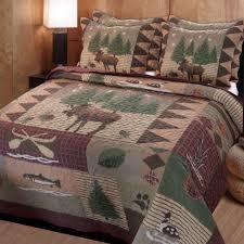 moose lodge rustic quilt bedding set in bedroom quilt sets
