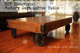 Industrial Factory Cart Coffee Table Diy Industrial Factory Cart Coffee Table Plans By Rogue Engineer