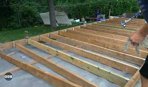 building ground level deck build timber