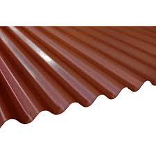 terra cotta deep corrugated steel roof panel