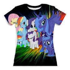 <b>Футболка</b> с полной запечаткой (женская) my little pony <b>full</b> print ...