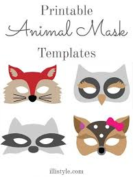 Mask Templates For Adults Impressive Felt Animal Mask Printable Templates DIY Ideas Pinterest